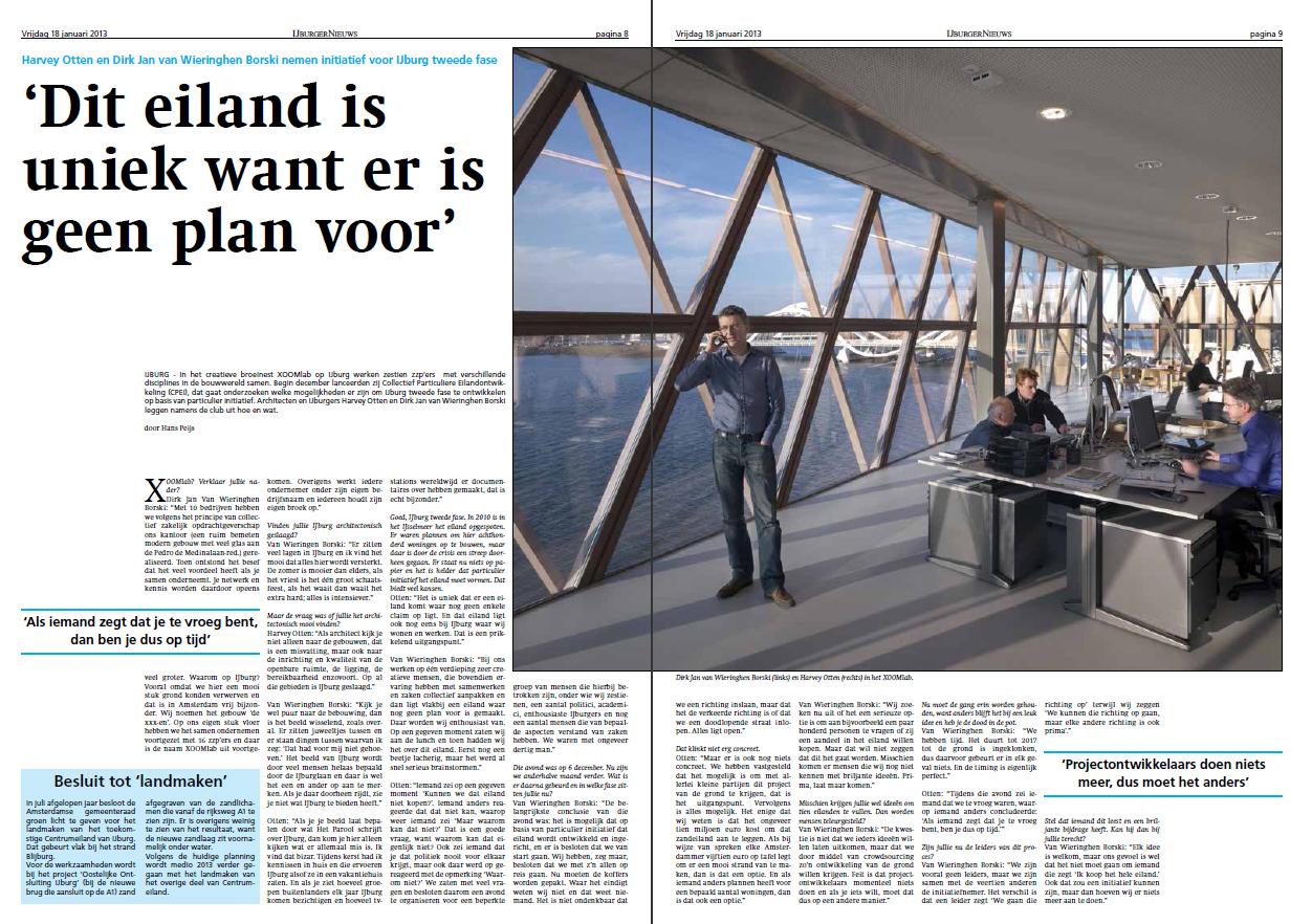 """""""Dit eiland is uniek want er is geen plan voor"""" – interview IJburgernieuws"""