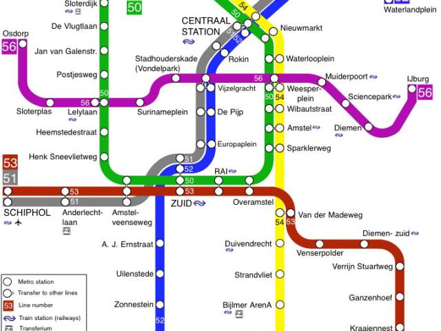 Met de Metro van IJburg naar Schiphol